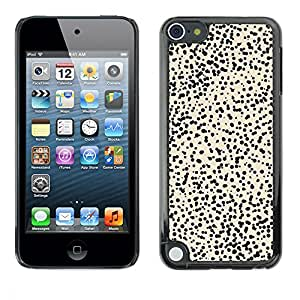 LASTONE PHONE CASE / Carcasa Funda Prima Delgada SLIM Casa Carcasa Funda Case Bandera Cover Armor Shell para Apple iPod Touch 5 / Cool Pattern Cheetah Beige Black