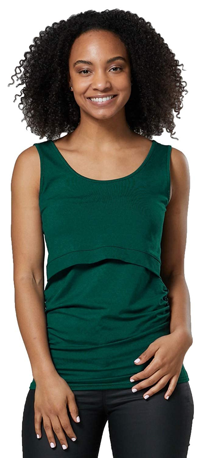 ea76514b295a4 Womens Nursing Double Layered Vest Top Round Neck Sleeveless. 042p at  Amazon Women's Clothing store: