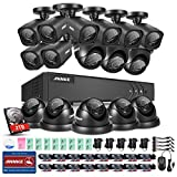 ANNKE 16CH HD-TVI 1080N Surveillance DVR System with 2TB Surveillance Hard Disk Drive and (16) 1.0MP 720p Weatherproof CCTV Cameras (8 Bullets+8 Domes) For Sale