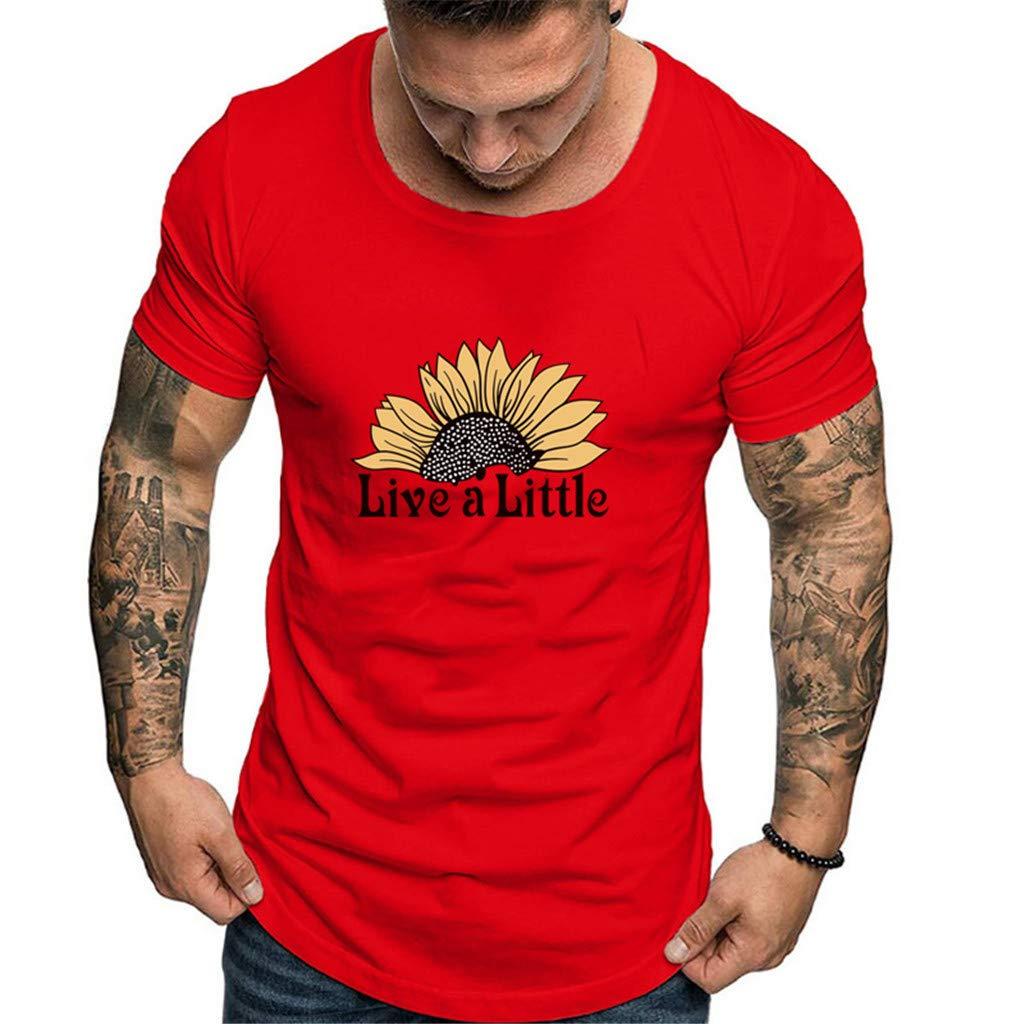 OGGI-T-shirt Maglietta da Uomo Comodo Sportivo T-Shirt Estate Traspiranti Manica Corta Moda Semplice Canotte Muscolo Formazione Camicia Classico O Collare Tee Estate Semplice Bianco T-Shirt
