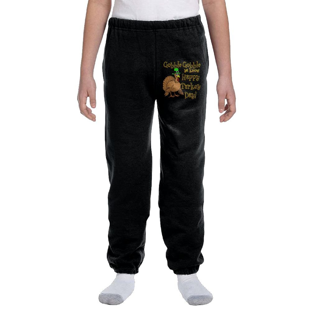 Gobble Ya Know Happy Turkey Day Boys&girls Activewear Suitable Joggers Sweatpants by Ogente