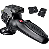 Manfrotto 327RC2 Light Duty Grip Ball Head with Quick Release (Black) Includes Two ZAYKiR Quick Release Plates