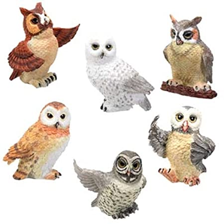 Owls Collectible Figurine, Set of 6