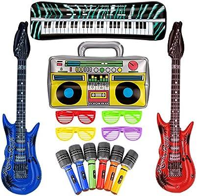 SAVITA 10 Piezas Juego de Juguetes de Estrella de Rock Inflable ...