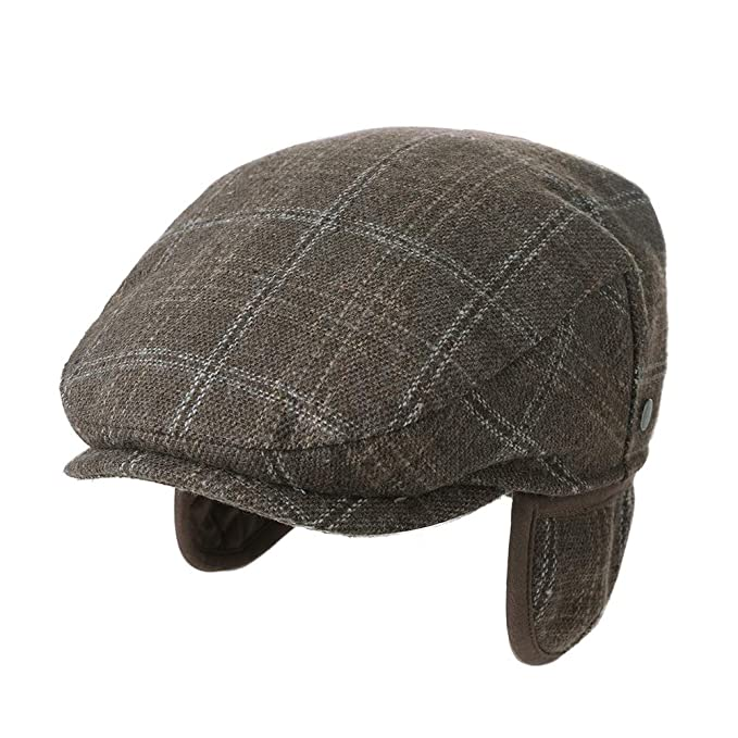 New Edwardian Style Men's Hats 1900-1920 Fancet Mens Winter Ivy Newsboy Flat Hunting Gatsby Hat Fall 55-61cm $19.99 AT vintagedancer.com