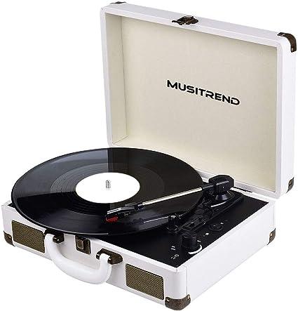 cassette di conversione di registrazione 2 adattatori per dischi in vinile 17,8 cm in plastica nera per giradischi in vinile 45 giri//min