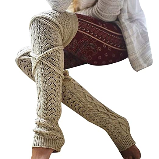 a1913e0f4aa FORUU Girls Ladies Women Thigh High OVER the KNEE Socks Long Cotton  Stockings Warm
