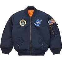 Alpha Industries Big Boys' NASA MA-1 Bomber Jacket, Blue
