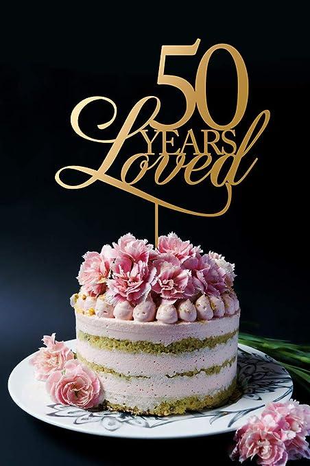 Anniversario Di Matrimonio 51 Anni.Topper Per Torta Per 50 Anni Con Amore Per Il 50 Anniversario Di