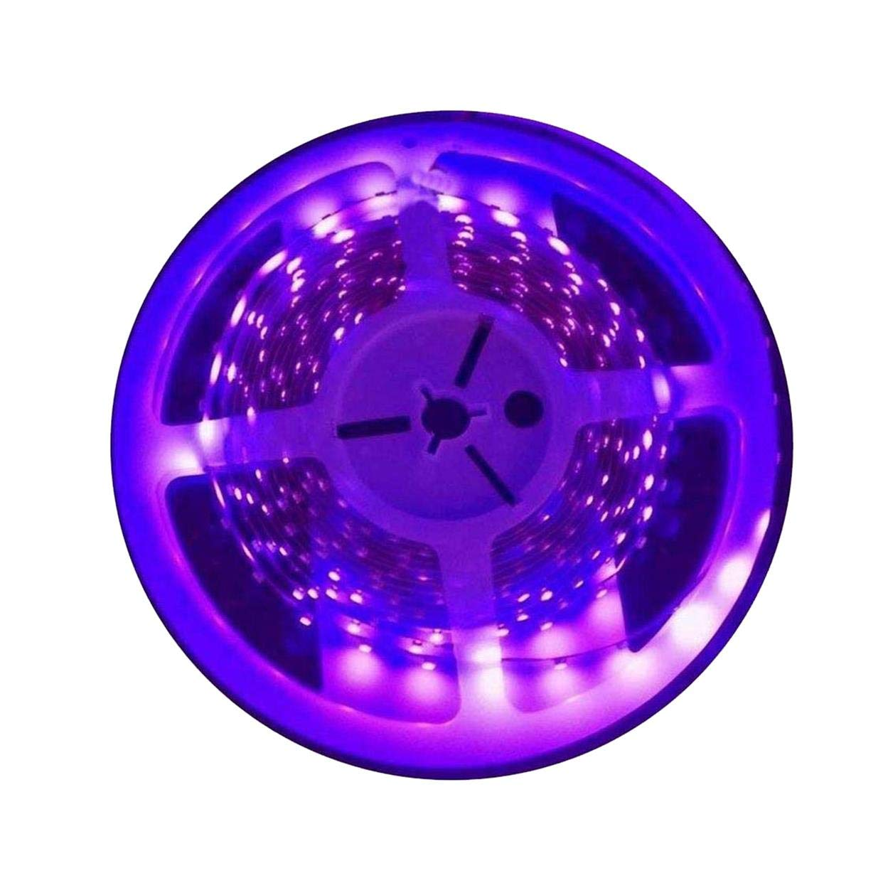AMARS 5M/16.4ft 3528 SMD Blacklight UV/Ultraviolet 395nm-405nm LED Light Strip Fixtures DC 12V 60leds/m 300 LED Purple Light Bulb Lighting H&PC-63103