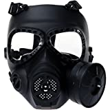 Airsoft Masque, Coofit Ghost skull Masque de protection Airsoft Paintball Masque Tête de Mort Halloween Masque