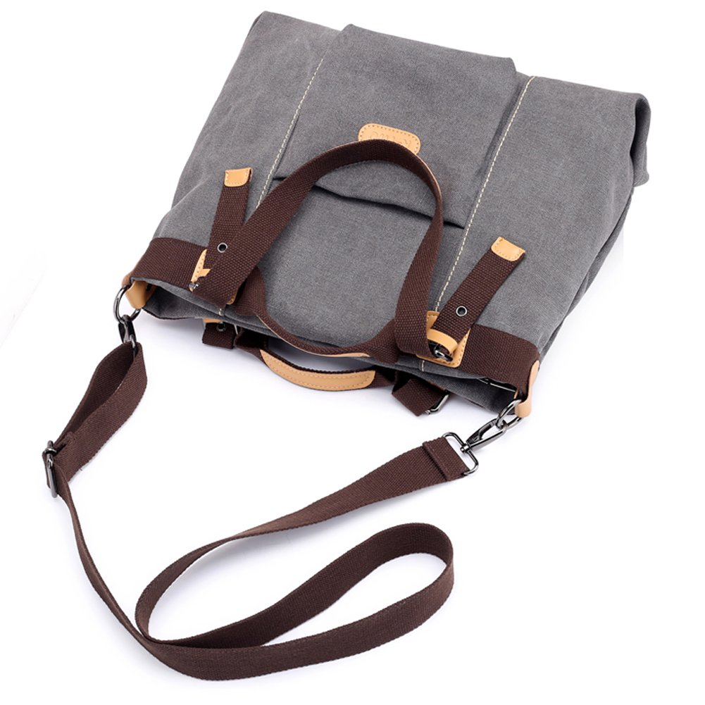 Z-joyee Women Shoulder bags Casual Vintage Hobo Canvas Handbags Top Handle Tote Crossbody Shopping Bags by Z-joyee (Image #6)