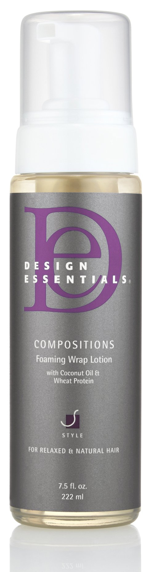 Design Essentials Compositions Non-Flaking Foaming Wrap Lotion for Smoothing, Molding, Styling Relaxed and Natural Hair with Coconut Oil & Wheat Protein for Luminous Shine-7.5oz by Design Essentials