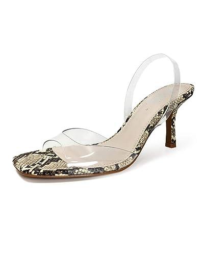 b82b9059a617 Zara Women s Vinyl Animal Print Heeled Sandals 2336 001  Amazon.co ...
