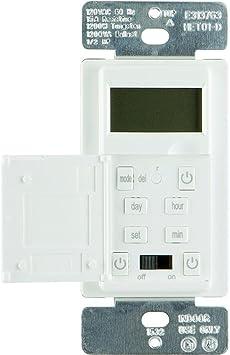 Defiant 15 Amp 7-Day In-Wall Digital CFL-LED Compatible Timer Model 13257