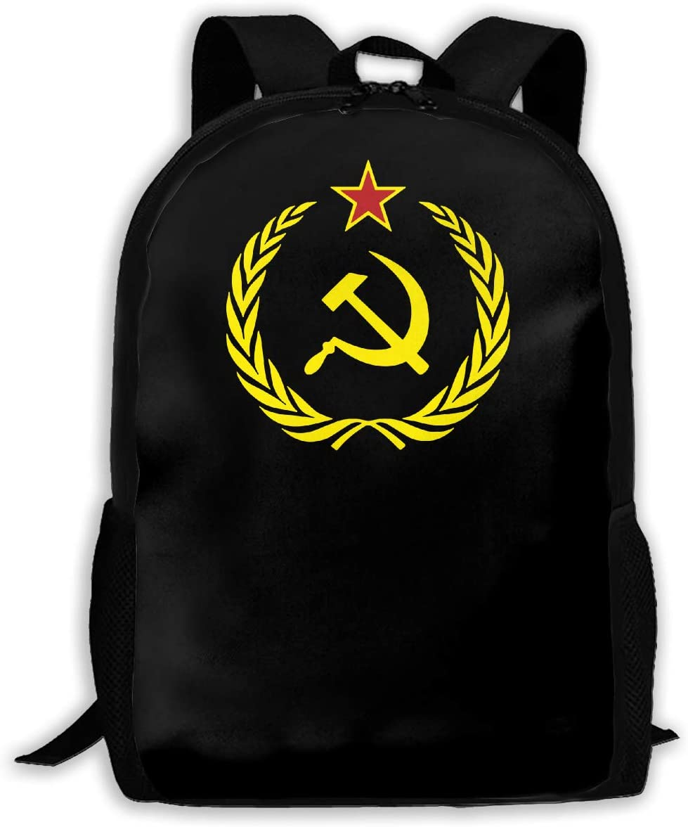Soviet Union Flag Man Woman Fashion Backpack Man s Girl s Fashion Canvas 3D Print Handsome Casual Shoulder Backpack