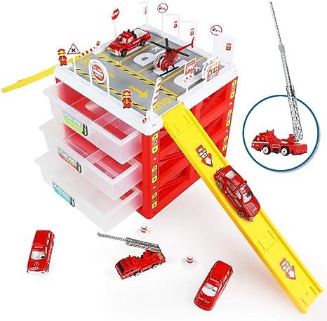 Parking Coches Juguetes Niño 3 4 5 6 Años- Garajes Infantil de ...