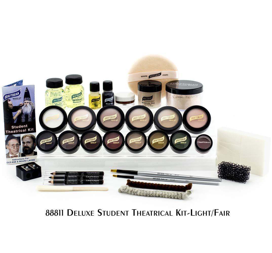 Graftobian Student Theatrical Makeup Kit Deluxe - Light/Fair