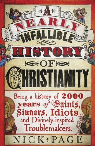 Capa do livro A Nearly Infallible History of Christianity, de Nick Page