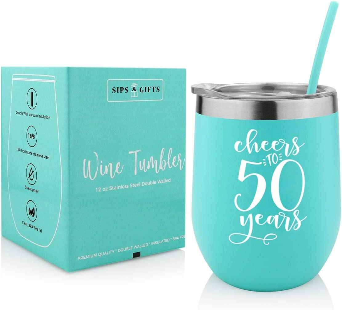 Max 45% Excellent OFF 50th Birthday Wine Gifts For Women-Cheers Anniversa 50 Years- to