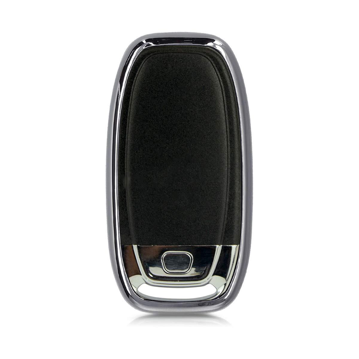 kwmobile Cover per Audi Guscio Protettivo coprichiave Soft in TPU Custodia Mascherina per Chiave Audi con 3 Tasti Keyless