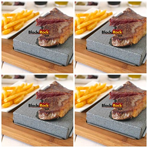 Lava Stone Steak Set of 4 by Black Rock Grill