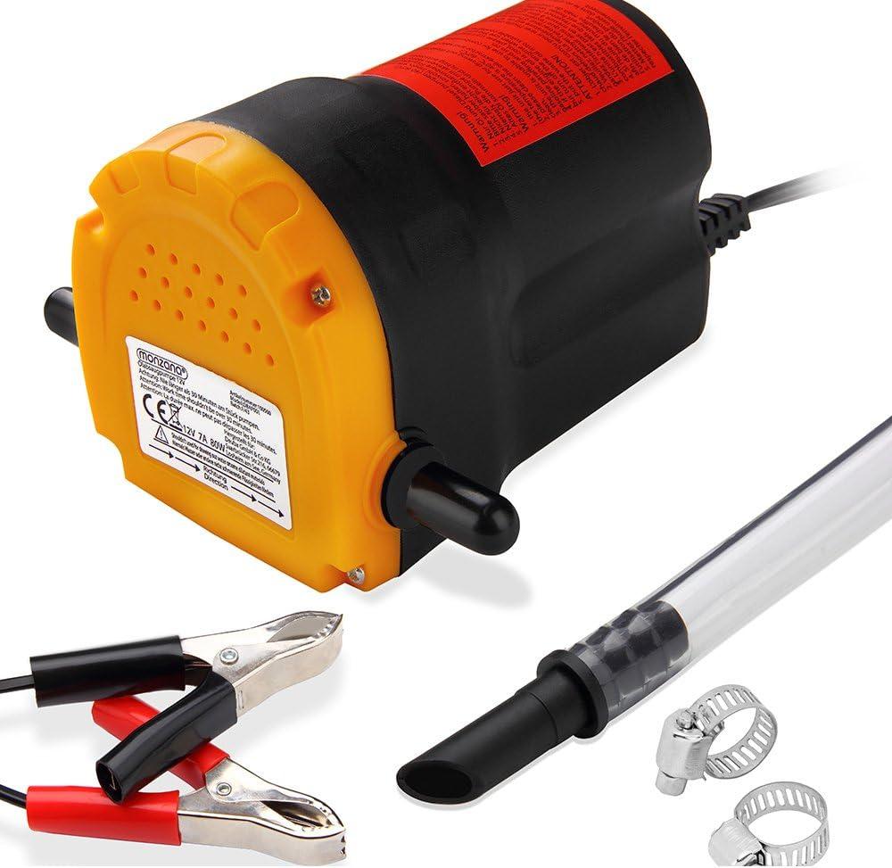 Monzana Bomba extractora de aceite y diésel bomba de aspiración de 12V 80W rápido y sencillo aceite 1L/min