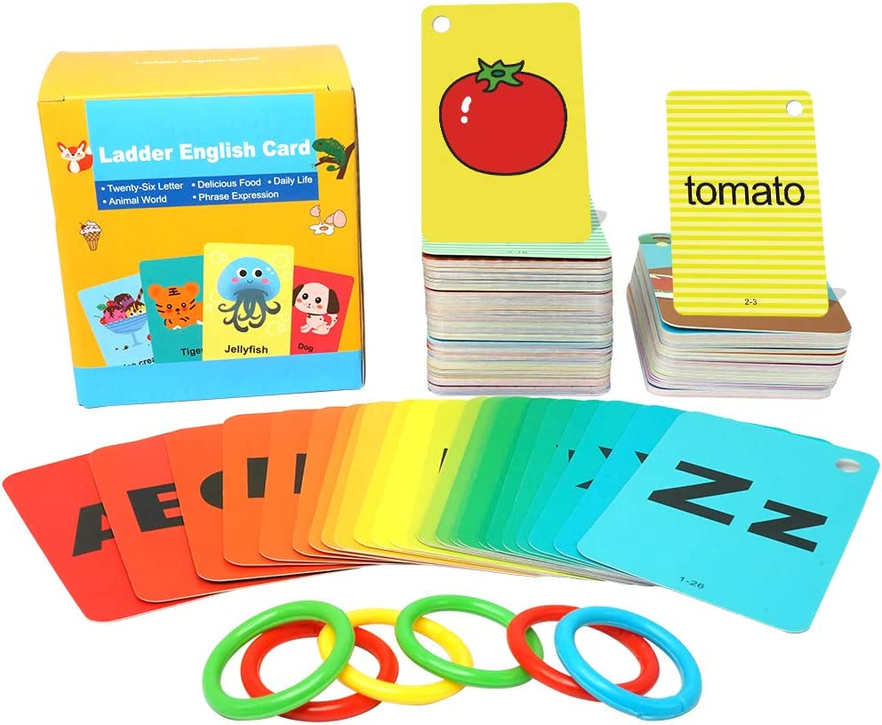U/C High Frequency 5 Categories Children English Vocabulary Card,English Flash Cards,Sight Words Flash Cards,Handy Word Card,Applicable for Primary School,Kindergarten and Before Kindergarten.