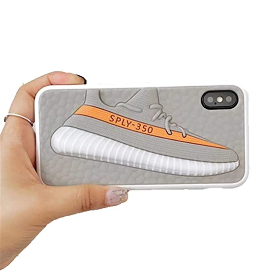 low cost 0ad07 4c81f Amazon.com: Phone Cases for iPhone 3D Boost Shoes Yezzy ...