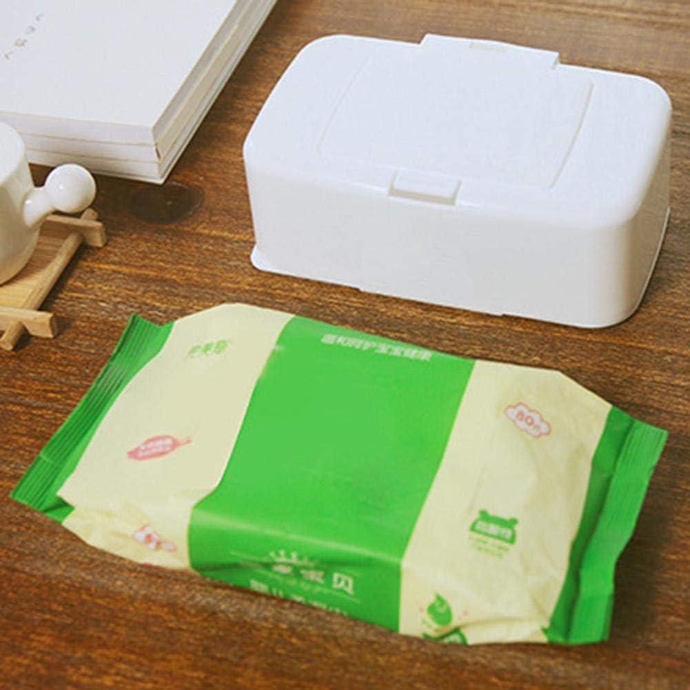 Gro/ße Tissue Aufbewahrungsbox Tragbare Baby Windel T/ücher Fall Mit Deckel Ungiftig Umweltschutz H/ält T/ücher Frisch greatdaily Feuchtt/ücher Spender Box Halter