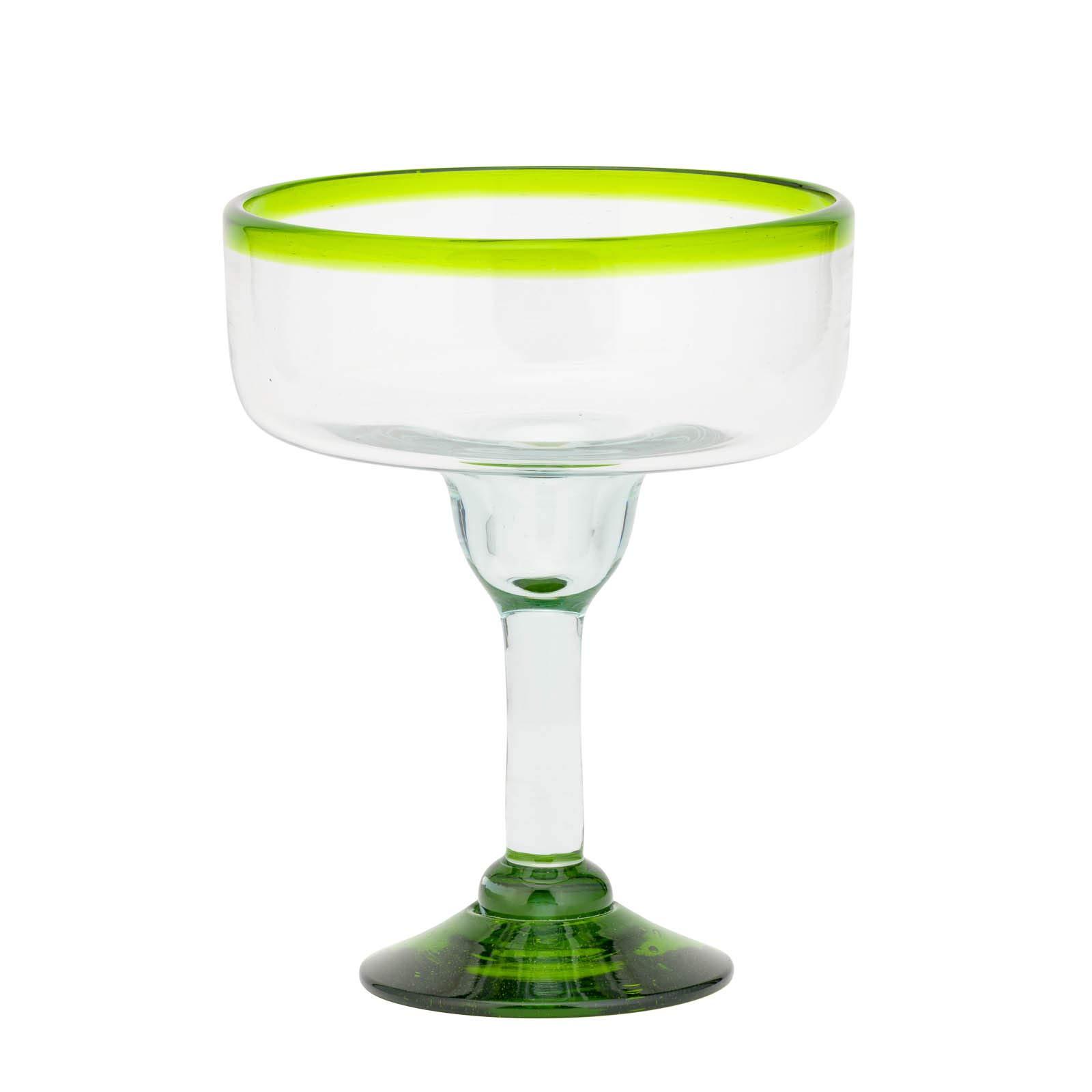 Amici Home 7MCR386S4R Baja Margarita Drinking Glass 15 Fluid Ounces Lime Rim