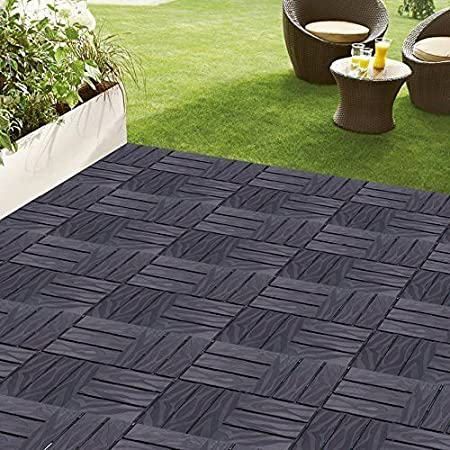 ALL WEATHER GREY PLASTIC DECKING, GARDEN LANDSCAPING, TERRACE, PATIO   PK  OF 24