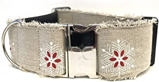 "product image for Diva-Dog 'Vintage Noel' 2"" Extra Wide Custom Engraved Dog Collar"