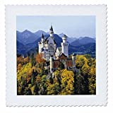 3dRose qs_81792_4 Neuschwanstein Castle, Bavaria, Germany EU10 RER0071 Ric Ergenbright Quilt Square, 12 by 12-Inch