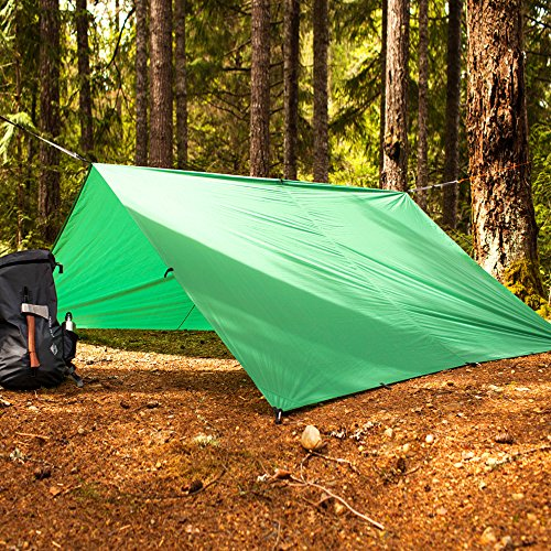 Aqua-Quest The Mummy Combo 2-pc Camping System - 100% Waterproof - 13 x 10 ft Large Guide Tarp - Green by Aqua Quest (Image #3)