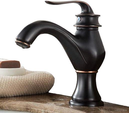 Noir Style maison de campagne r/étro Mitigeur de lavabo mitigeur bain robinet mitigeur monocommande robinet mitigeur lavabo rotatif /à 360//° avec rallonge Bec laiton Huile frott/é bronze bross/é