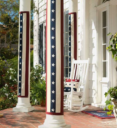 Plow & Hearth Vintage Stars and Stripes Cotton-Duck Pillar Bunting
