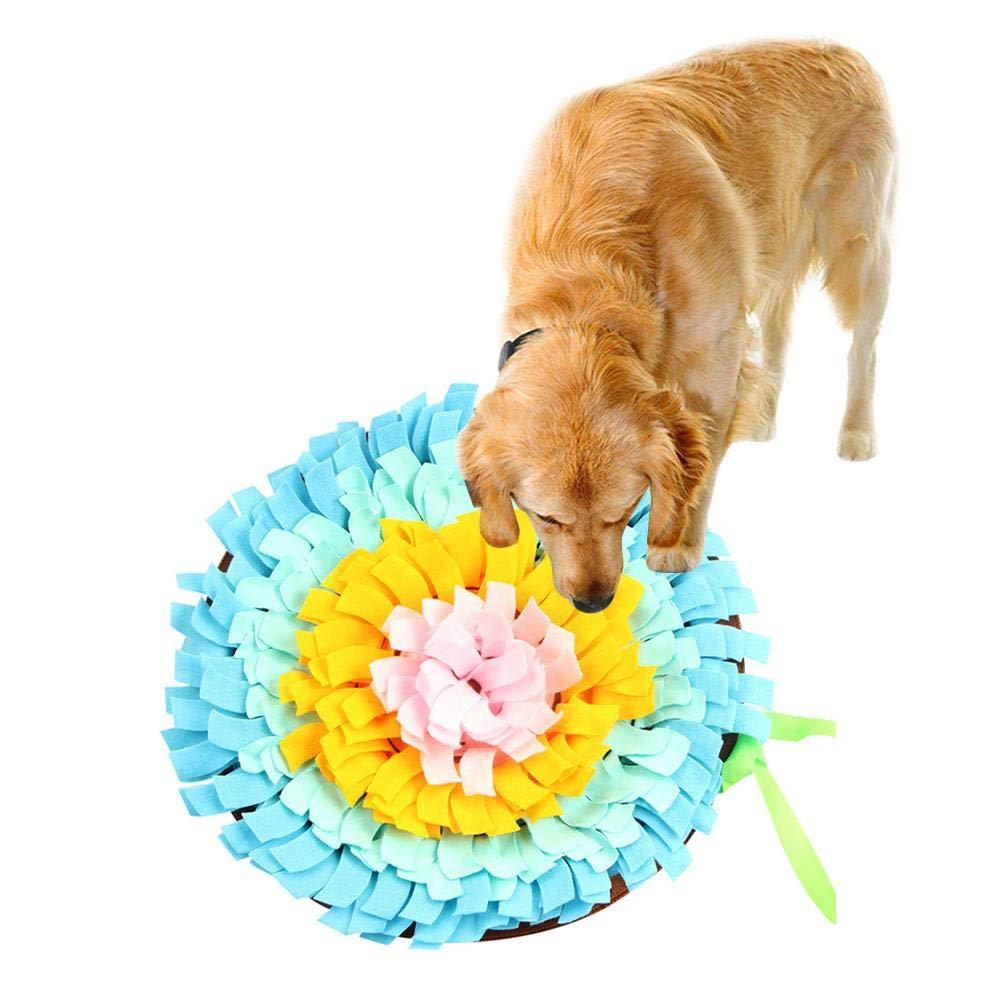 Urben Life Dog Snuffle Mat Perro Redondo Snuffle Alimentar Estera Lavable Entrenamiento Piecing Manta Mascota Jugar Juguete Anima Natural Habilidades De ...