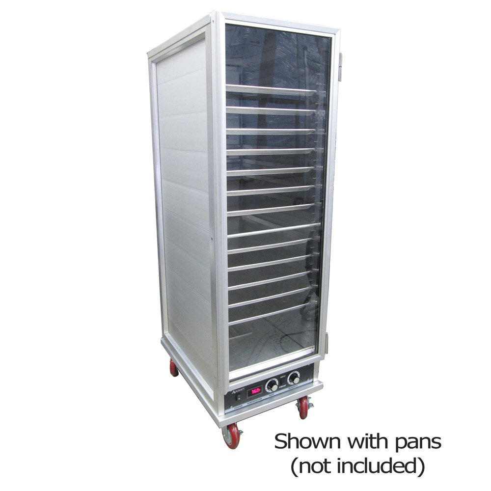 Adcraft PW-120 Heater Proofer Cabinet, Full-Size, Non-Insulated, Aluminum, 1800-Watt, 120v