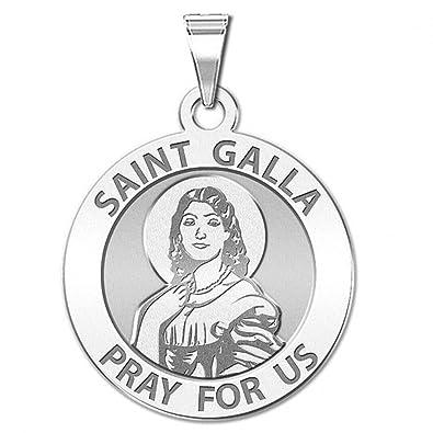 amazon saint galla round religious medal 2 3 x 2 3 inch 2 X 2 Size saint galla round religious medal 2 3 x 2 3 inch size