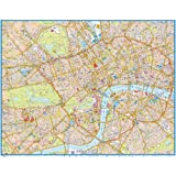 Laminated Central London Super Scale 2012 Wall Map: Gloss finish (120 x 97cm)