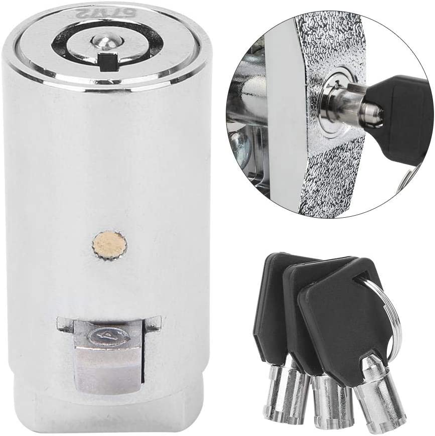 Bloqueo de máquina expendedora Cilindro de bloqueo de máquina expendedora de aleación de zinc cromado para máquinas de venta automática con 3 llaves
