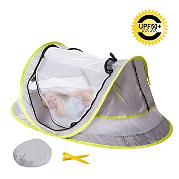 Bersun Instant Portable Pop Up Beach Play Tent Baby Travel Bed Mosquito Net UPF 50  sc 1 st  Amazon.com & Amazon.com : Bersun Instant Portable Pop Up Beach Play Tent Baby ...