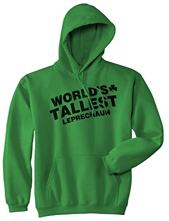 aea85121 Crazy Dog T-Shirts World's Tallest Leprechaun Hoodie Funny Saint Patricks  Day Sweatshirt (Green