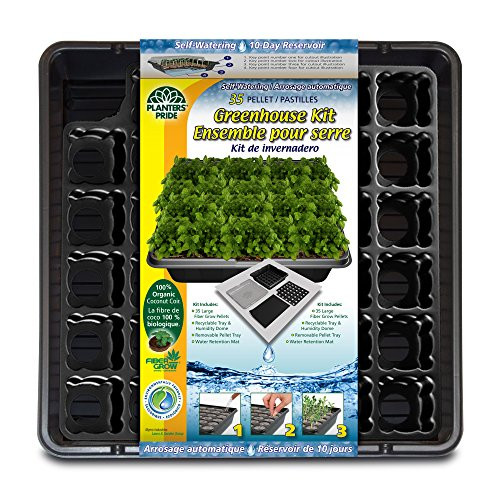 (Planters Pride 35 Coconut Coir Pellet Self-Watering Greenhouse Kit)