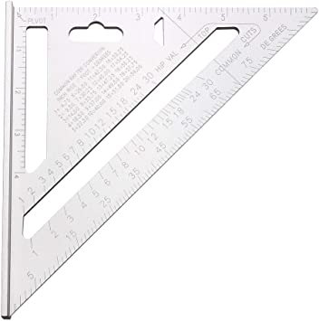 """6/"""" Aluminium Alloy Roofing Rafter Speed Square Triangle Angle Guide Roof"""