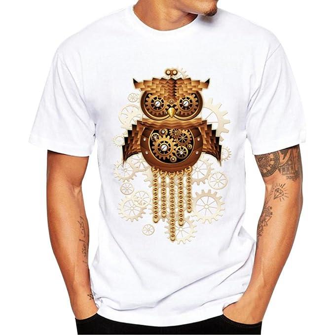 HUI Camisa de Hombre la Española Tshirt Men Estampadas Camisa de Hombre de Personalizada Casual tee Shirt Impresión tee Cuello Redondo Tops: Amazon.es: Ropa ...