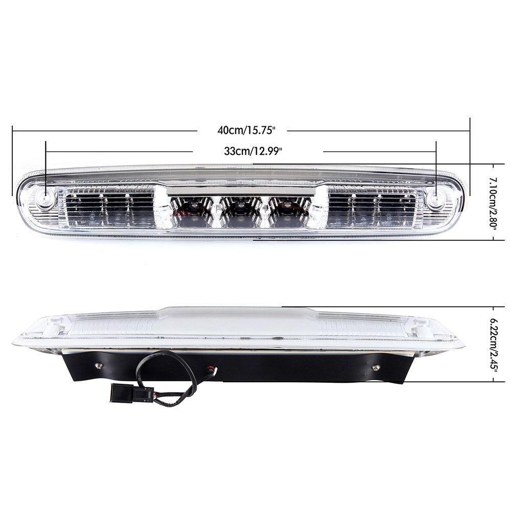 LED 3rd High Mount Brake Light Brake Light Carge Light for 2007-2013 Chevy Silverado//GMC Sierra Smoke Lens LED Light