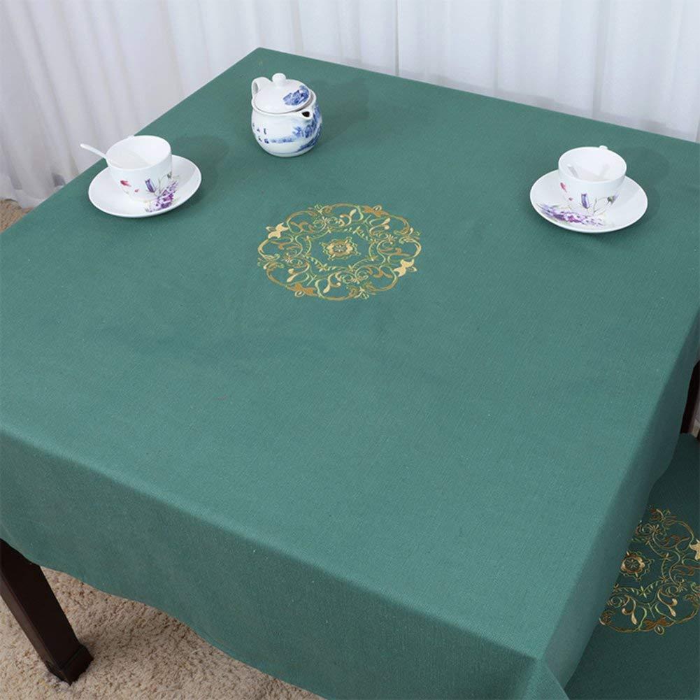 Shuangdeng 田舎のテーブルクロスファブリックTableclothTeaテーブルクロスデスクデスククロス (Color : E, サイズ : 90x90cm(35x35inch))   B07S9B4R1S