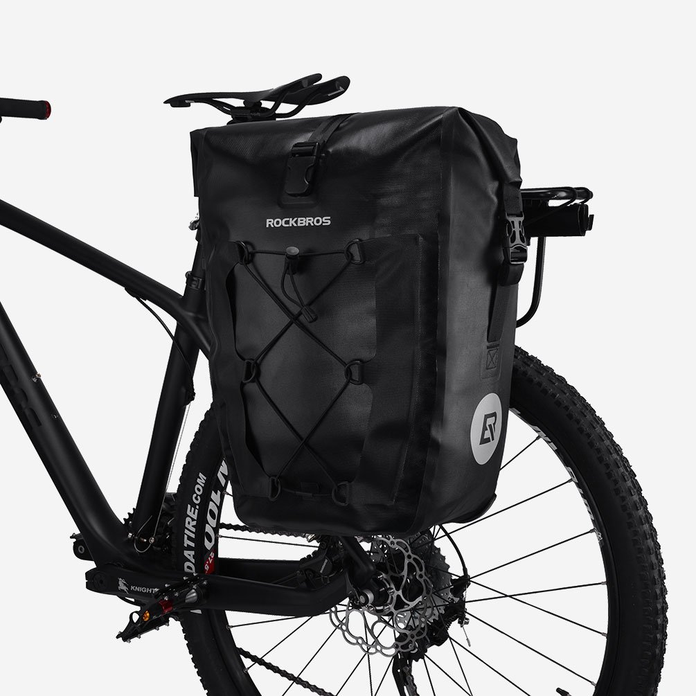 Rockbros Waterproof Pannier For Bicycles Large Capacity A 008 Bike Handlebar Front Bag 3 4l Carry Handle Mountain Trunk Backpack Commuter Cycling Saddle Black
